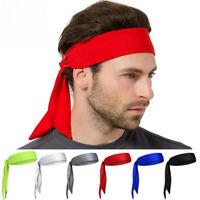 TIE in on the BACK HEADBANDS UPICK Flex Sweatband Head Sweat Band Headband Sport
