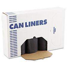 Boardwalk SH-Grade Can Liners 40 x 46 40-45gal 1.2mil Black 25/Roll 4 Rolls