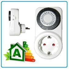 Temporizador diario programador horario electrico ahorrador enchufe luz ahorra