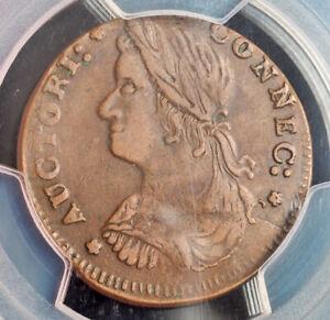 1787, USA (Pre-Federal). Connecticut Copper. 33.16-Z.15, W-3615 (R4!) PCGS XF45!