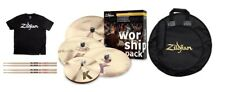 Zildjian K Custom Worship 4-Pc Cymbal Pack Dark 14 Hi-Hats/20 Ride/16+18 Crash