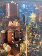 15� Wooden Nutcracker with axe and lantern