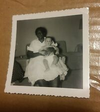 000 Vintage B&W Photograph African American Nurse Nanny Holding White Baby