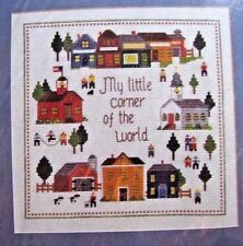 My Little Corner Of The World Vintage Village Cross Stitch Kit Creative Circle