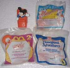 93 Epcot Center Disney McDonalds Happy Meal Toy, Mickey Mouse in USA plus 3 more