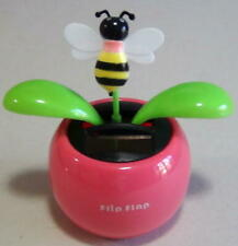 New listing Solar Toy Dancing Bee on a Pink Pot