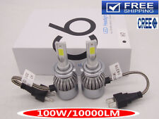 CREE LED Headlight Kit 100W 10000LM Car Bulb Light Lamp H1 H4 H7 H11 6000K White