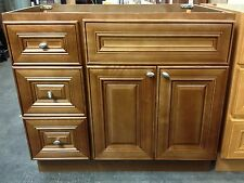 36-inch Vanity Cabinet with Left Drawers Chocolate Glaze