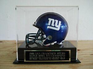 Super Bowl XVI Football Mini Helmet Case With A San Francisco 49ers Nameplate