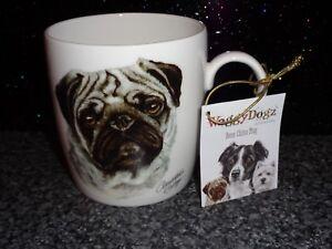 Waggy Dogz Fine Bone China Mug FAWN PUG