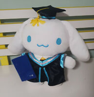 CINNAMOROLL LARGE GRADUATION PLUSH TOY SOFT TOY 33CM TALL 39CM WIDE SANRIO!