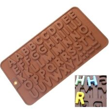 Alphabet Letters Silicone Mould Chocolate Sugar Cake Decorating ICE Jelly ABC