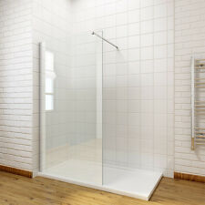 Walk in Shower Screen and Tray 8mm Easy Clean Glass Panel Wet Room Cubicle