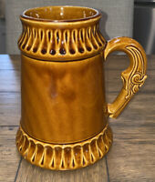RARE Nelson McCoy Flintlock Pistol Handle Brown Pottery Pitcher Stein MCP # 6029