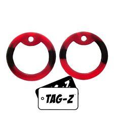 2 Red & Black - Volcano/Dracula Dog Tag Silencers - Military GI Silencer - Tag-Z