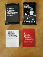 Cards Against Humanity: 4 Pack CAH Bundle Science/Reject/House/Non-Holiday *NEW*