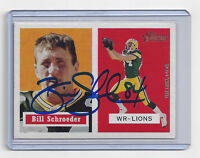 PACKERS Bill Schroeder signed card AUTOGRAPHED 2002 Topps Heritage #83 Green Bay