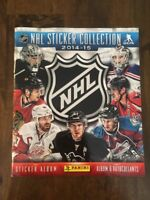 2014-2015 Panini NHL Hockey Sticker Collection Book More Than Half Full