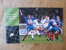 Catalogue Nike FOOTBALL 1995 - PSG Cantona et autres. No Panini.