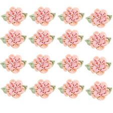 20pcs W/Rhinestone Satin Ribbon Flowers Bows Sewing Appliques Craft Wedding Lots