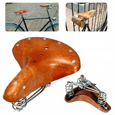 Bicycle Saddle Seat Genuine Leather Brown Vintage Comfortable Bike Cushions