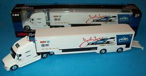 John Force 2018 PEAK 1/64 Freightliner NASCAR Hauler Transporter Truck Trailer