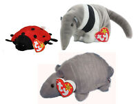 RARE-Lot of Three(3) Ty Beanie Babies - Ants, Lucky & Tank All Retired