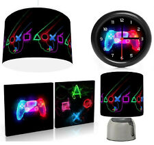 PLAY STATION NEONS  - Light Shade , Touch  Lamp, Wall Art, Wall Clock or Bundle