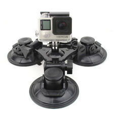 9cm Triple Suction Cup Mount Holder Stand For GoPro Hero 5 4 3+ 2 Xiaomi YI 4K