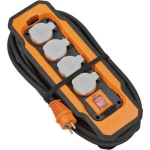 Brennenstuhl Professional Line Sockets Block 4x Plug IP54/BA5200/5m