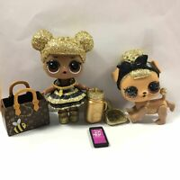 LOL Surprise Doll Queen Bee  & Pup Bee Glam Glitter Series 1 Ultra Rare