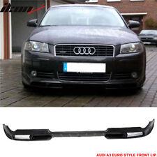 Fits 06-09 Audi A3 Poly Urethane PU Front Bumper Lip Spoiler Bodykit