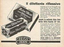 Z0384 Pellicola Zeiss Ikon Ortho Ultra Rapida - Pubblicità del 1931 - Advertis.