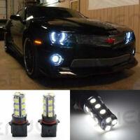 2PCS White P13W LED Bulbs 18-SMD For Chevy Camaro Fog Lamp Driving Light 6000K