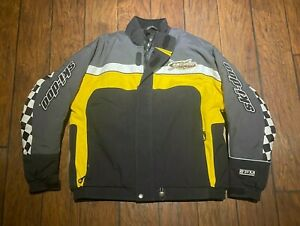 Ski Doo X-Team BRP Jacket Checker snowmobile racing XL insulated yellow flag
