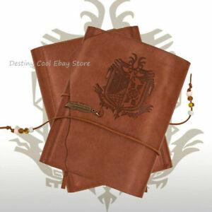 Monster Hunter PU Cover Creativity Nostalgia Notebook Blank Diaries Journals A5