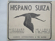 1939-1940 PUB HISPANO-SUIZA MOTEURS AVIATION HELICES CANONS ORIGINAL FRENCH AD