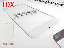 "fits 10X replacement front outer glass lcd screen lens WHITE iPhone 6PLUS5.5""+3M"
