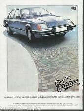 1979 VAUXHALL CARLTON advertisement, VAUXHALL Carlton Sedan, British advert, GM