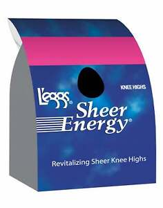 L'eggs Sheer Energy Knee Highs 5-Pack Toe Stockings Wide band sandals open-toe