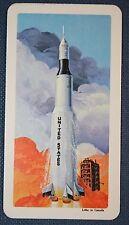 NASA  PROJECT APOLLO  SPACE ROCKET      Vintage Colour Card  EXC