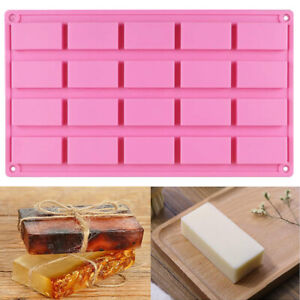 20 Cavity Silicone Rectangle Baking Ice Mold Kitchen Bar Soap Mould Craft DIY