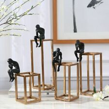 Thinker Sculpture Desktop Decoration Modern Elegant Home Decor Figure Decoration