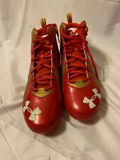 Under Armour Nitro Gold/Red Cleats 4d Foam Mens Size 14 ~New