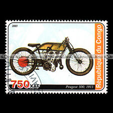 ★ PEUGEOT 500 1913 ★ CONGO Timbre Moto / Motorcycle Stamp #409