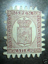 Finland stamp #12 mint NG pulled  perfs
