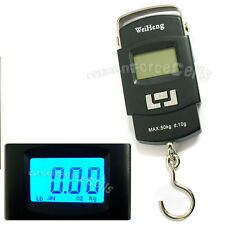 Portable Electronic Digital Handing Pocket Scale 50kg/10g Weight Luggage Fishing