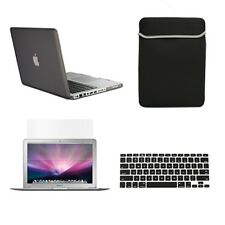 "4 in1 Rubberized GREY Case for Macbook PRO 13"" +Keyboard Cover+ LCD Screen + Bag"
