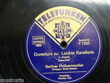 "78rpm 12"" BERLIN PHILHARMONIKER - ERIC KLEIBER leichte kavallerie ouverture 1&2"