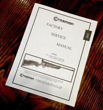 Crosman Factory Service Manual Model 160 Pellgun Rifle Single Shot 22 Cal Pellet